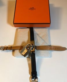 Hermes Kelly in SILVER with 2 leather bracelets - Ladies'