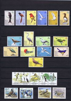 Thematic -  Collection of Birds in a stockbook