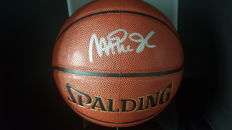 Autographed new NBA Spalding indoor/outdoor basketball by Magic Johnson