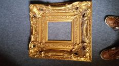 Robust gold plated wooden frame - France - Louis Quinze style -19th century