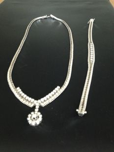 White gold diamond set 3.35 ct