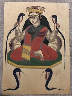 Kalighat Painting - India - mid 20th century