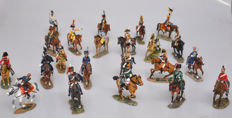 DelPrado - Height 9-13 cm - Lot with 22 metal Cavalry Figures of the Napoleonic wars, 20th century