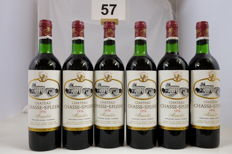 1976 Chateau Chasse-Spleen, Moulis-en-Medoc, Cru Bourgeois Exceptionnel, France, 6 Bottles.
