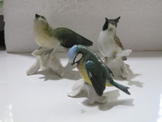 Three Porcelain bird figurines from Porzellanfabrik Karl Ens Volkstedt-Rudolstadt