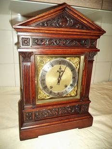Large W & H table clock - Winterhalder & Hofmeier - quarterly strike - Germany - around 1890