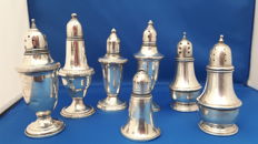 7 Sterling silver shakers