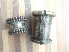 Two vintage silver bracelets from India / Pakistan - second half twentieth century