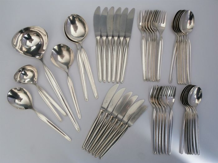 Six people cutlery + serving cutlery 43-pieces, WMF, Germany, 2nd half of the 20th century