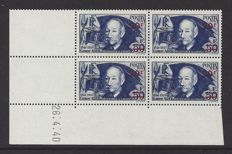 France 1941 - Clement Ader with offprint in block of 4 with Coindate - Yvert 493