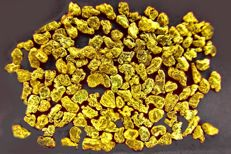 Lot of gold nuggets - 18-22 ct - 1 g total