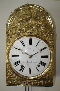 Comtoise clock – Brass foil depiction – Circa 1840