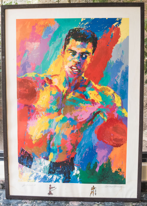 Autographed serigraphy depicting Muhammad Ali