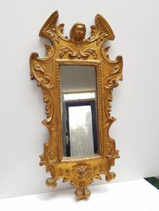 Gilded wood Baroque style mirror