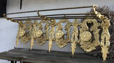Sturdy Solid Brass Coat Rack - mid 20th century