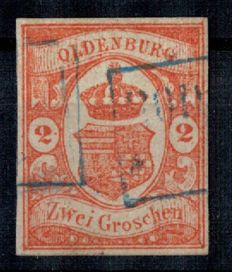 Oldenburg 1861 – national emblem - Michel no. 13
