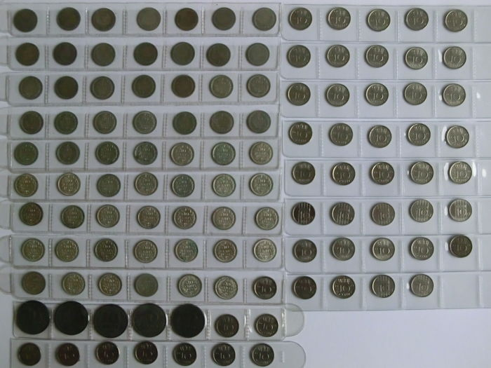 The Netherlands - 10 cent 1893/1999 '116 pieces, of which 62 silver'