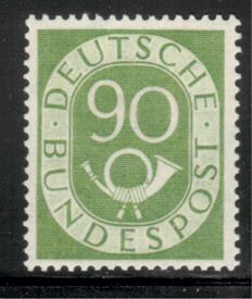 "Federal Republic of Germany 1951, ""posthorn"" set complete MNH, Michel no. 123-138,"