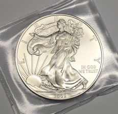 """United States - 1 Dollar 2009 """"Liberty"""" - 1oz Silver, Uncirculated"""