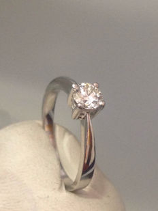 White gold 18 kt ring with Diamond 0.50 ct