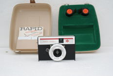 An Agfa Rapid Model l made around 1971 the demonstration camera