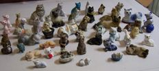 Cat Figurines - porcelain, earthenware, stone