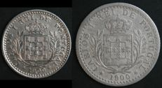 Portugal - 2 Coins 50 and 100 Reis - D. Carlos I - 1900 - Lisboa - AG: 05.01 and 07.01 - UNC