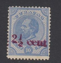 Curaçao 1895 - Charity stamp with double overprint - NVPH 24f