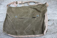 French's lunch bag, complete field bottle and stamped French sewing kit