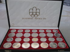 Canada – 5 and 10 Dollars 1973/1976 'Montreal Olympics' (28 coins) set – silver