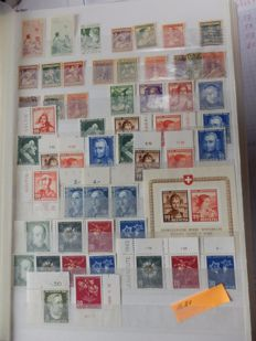 Switzerland Pro Juventute 1910/1962 - sets with corner edges pieces and edge marking