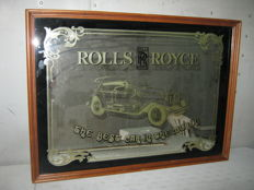 Rolls Royce - mirror with glass - 75 x 55 cm - 1900s