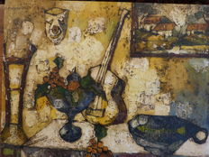 Attribuate Mayodon Jean-Claude (1938-1981) - Nature morte à la guitare