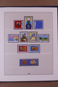 Europa Stamps 1993/1996 - Complete collection in Lindner Falzlos T-type preprint album