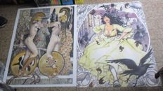 "Manara, Milo - 2x maxi posters ""Estate indiana"" and ""Mithology"""