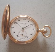 38. International Watch Co Schaffhausen - 14Kt. Double mantle pocket watch - around 1890