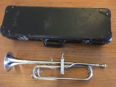 1-valve trumpet, silver-plated