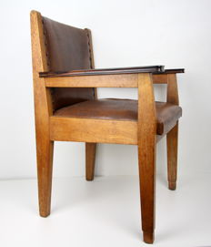 Hague School/Art Deco oak desk chair