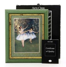 "Goebel DEGAS ""Deux Danceuses""- Framed Porcelain Plate - dated and stamped certificate of quality and origin"