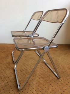Giancarlo Piretti forCastelli ITALY – set of 2 x PLIA chairs / folding chairs