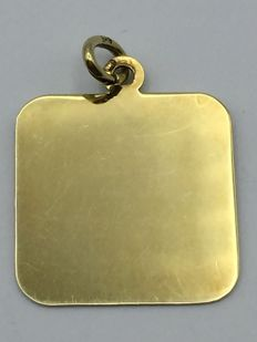 14 ct Gold Plate unengraved - 18.2 mm