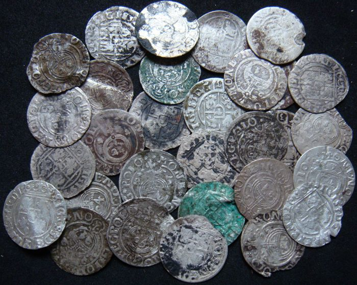 Poland - 3 Polker 17th Century (30 pieces) - silver