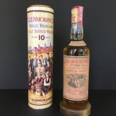 Glenmorangie 10 years old 'Sixteen Men of Tain' metal tube. Importer Mario Rossi JR. from the 1990s.