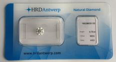 0.70 ct brilliant cut diamond, colour H, clarity VVS, HRD Hoge Raad, VG EXC EXC, Hearts and Arrows