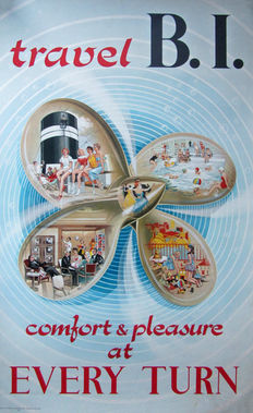 Kay Stewart - Travel B.I. comfort & pleasure at every turn - 1952