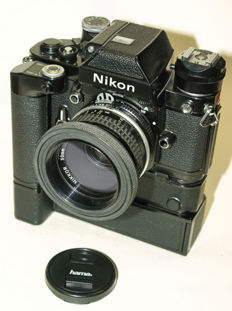 Nikon F2A black with MD-3 and MB-1 with Nikkor 2/50 mm