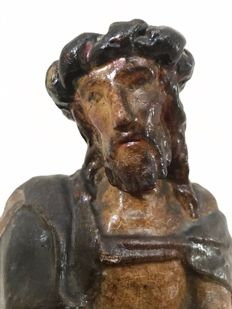 Ecce Homo - polychrome wooden sculpture - Southern Europe - 18th century