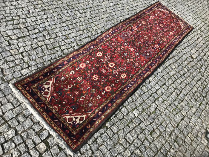 Old Persian Hand knotted  Made in Iran -BIDJAR 315x85 cm