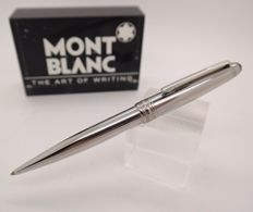 Ballpoint Pen MONTBLANC Solitaire Steel & Palatinum Plated Trims