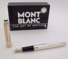 Fountain Pen MONTBLANC Solitaire Nº 144 - Silver & Gold Plated